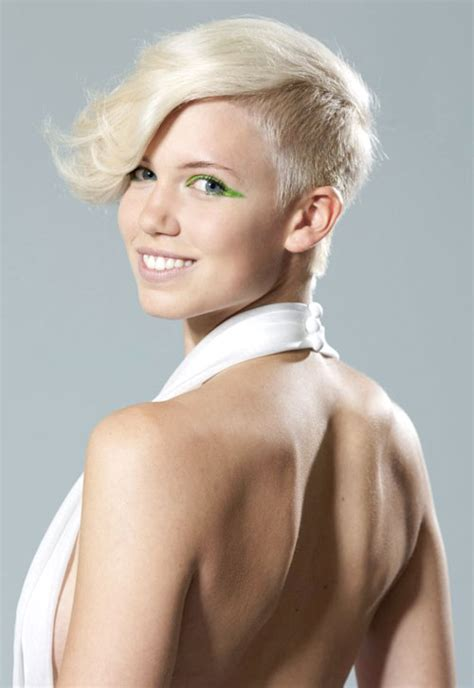 women hairstyles shaved sides short asymmetrical haircuts shaved sides