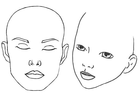 blank face template for face painting www pixshark com