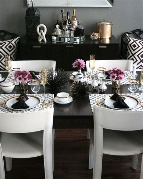 modern table settings coastal glam dining room love these colors together