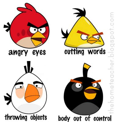 angry bird anger management worksheets don t be an angry bird lessons on anger management for