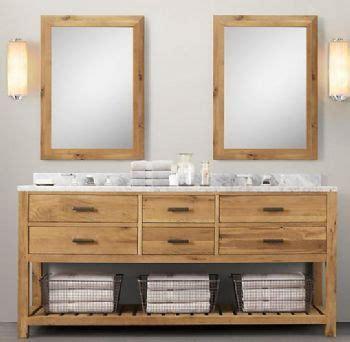 wnut  double wooden bathroom vanity  light walnut