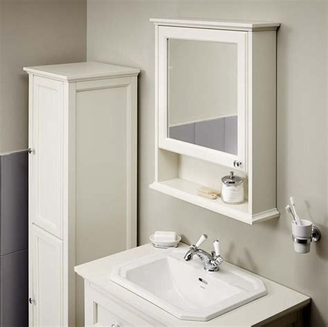 savoy white mirror cabinet bathstore