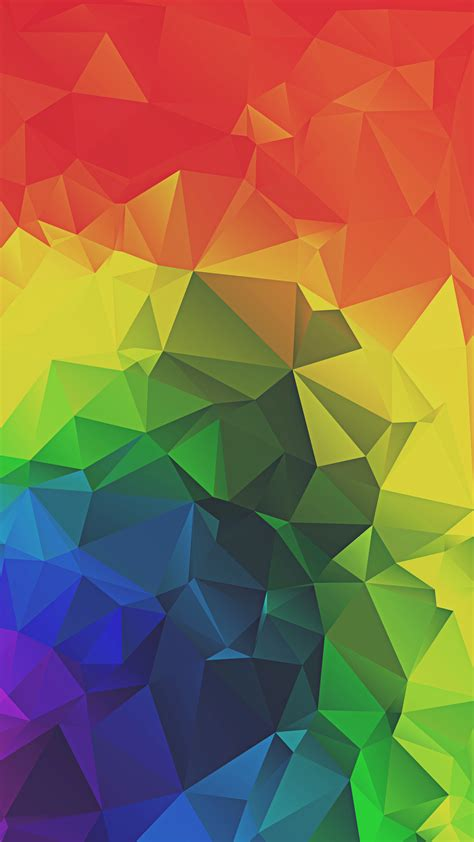 rainbow triangles abstract iphone  hd wallpaper ipod