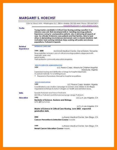 Resume Exles Profile 10 Exle Of Resume Profile Emt Resume