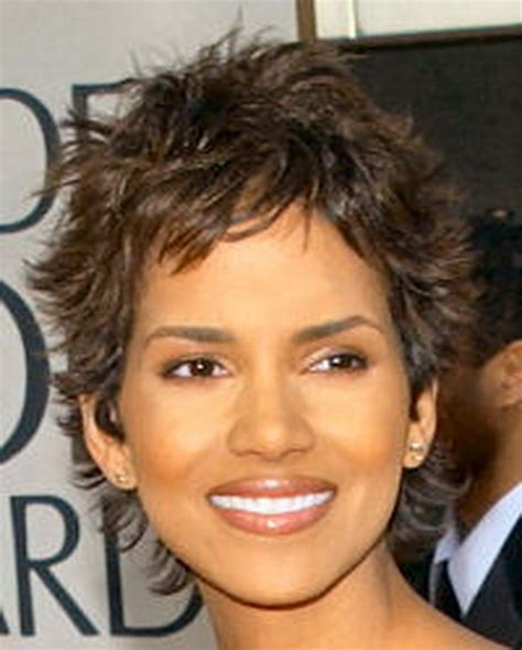 pictures of halle berrys short haircuts from the side and the back view halle berry haircuts