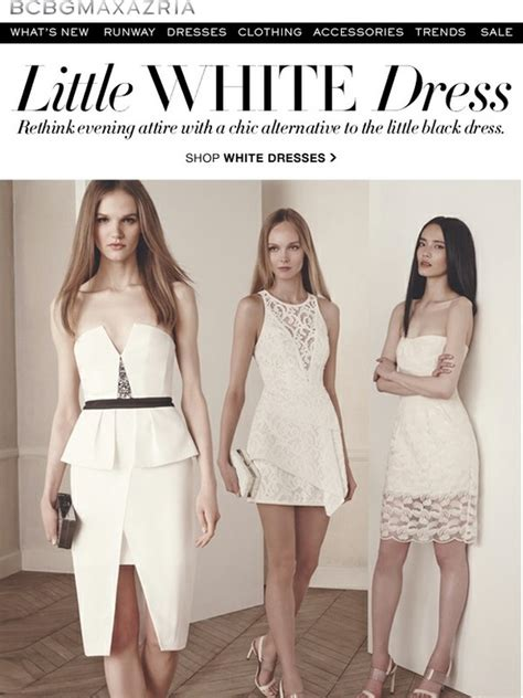 7 Alternatives To The Lbd by Bcbg White Dress Shop A Chic Alternative To The