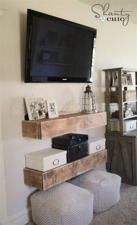 ways  decorate  tv floating shelves diy