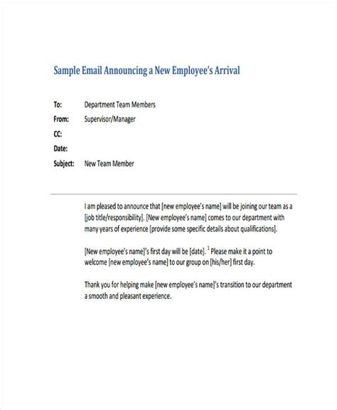 6 Welcome Email Exles Sles Welcome To The Team Email Template