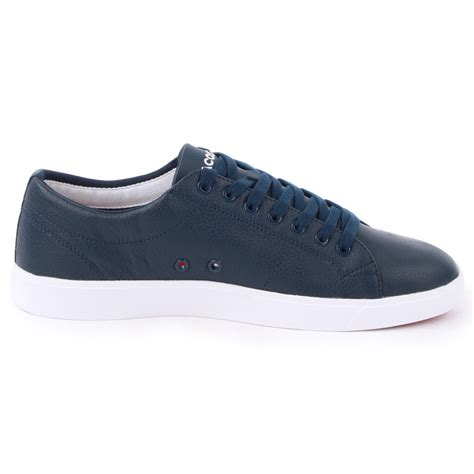 lacoste shoes for lacoste mens trainers marcel cup leather shoes navy white
