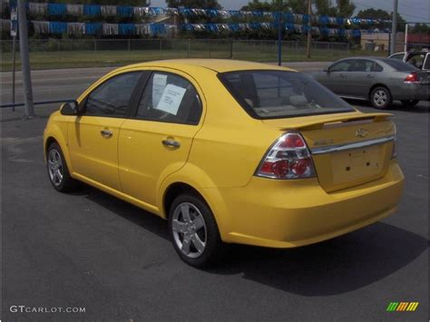 2009 summer yellow chevrolet aveo lt sedan 14045500 photo 2 gtcarlot car color galleries