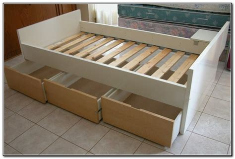 Xl Bed Frame Ikea by Bed Frame With Drawers Ikea Beds Home Design