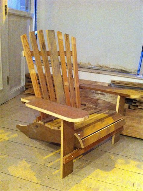 folding adirondack chair woodworking plan plans