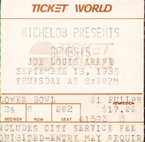 genesis tickets ticket genesis joe louis arena detroit 18th