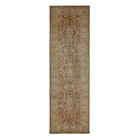 10 foot runner rug darya rugs oushak silver 3 ft 4 in x 10 ft 8 in indoor rug runner m1780 16 the home depot