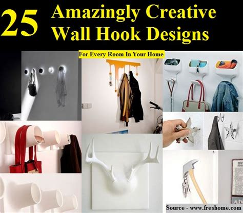creative wall hook designs 35 pics 25 amazingly creative wall hook designs home and life tips