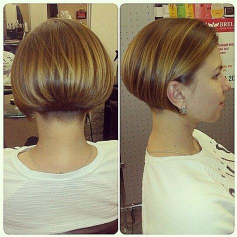 side view short modified stacked hairstyle 25 best ideas about bob haircut back on pinterest