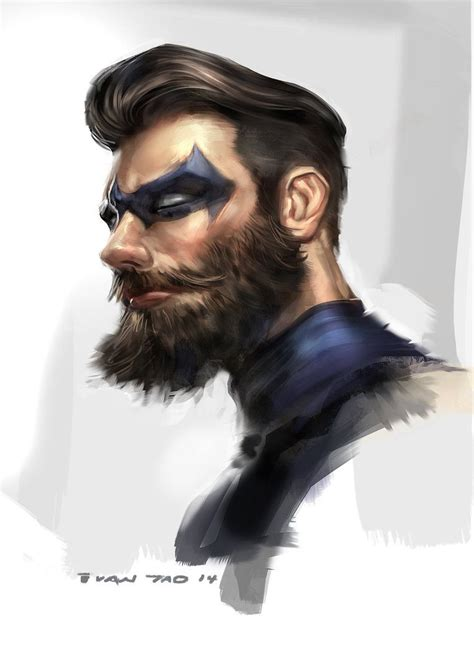 nightwing hairstyle nightwing beard by ivangod concept art pinterest tao