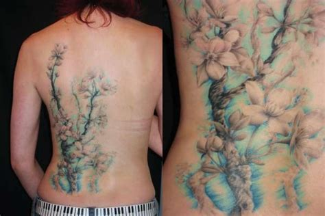 pastel tattoo large pastel color floral tattoos