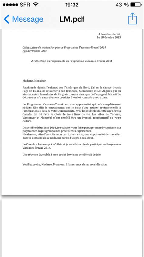 Lettre De Motivation Pour Visa Sejour Canada Pvt 2013 Mod 232 Le Lettre De Motivation Pvt Page 326
