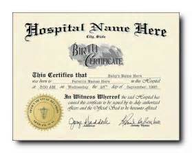 official birth certificate template blank birth certificate template sle for new born baby