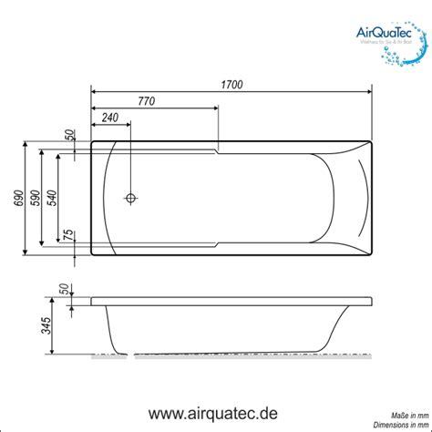 Abmessungen Badewanne by Flache Badewanne 170x70cm Niedriger Einstieg Einfaches