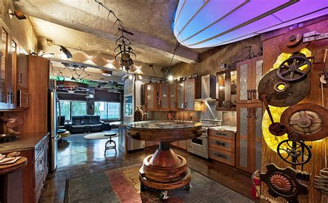 steam room nyc chelsea steunk apartment is lit by repurposed 32 foot zeppelin led l steunk house