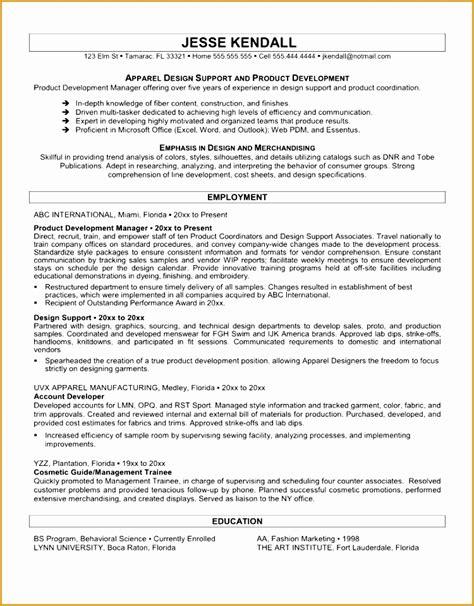 fashion designer resume template 6 fashion design resume sles free sles exles