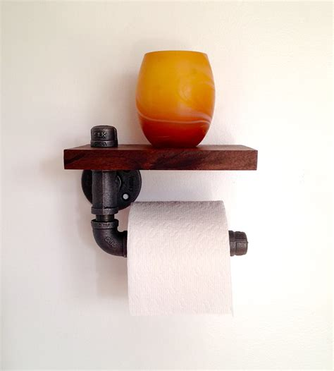 How To Make A Pipe Out Of Toilet Paper Roll - reclaimed wood pipe toilet paper holder home do not