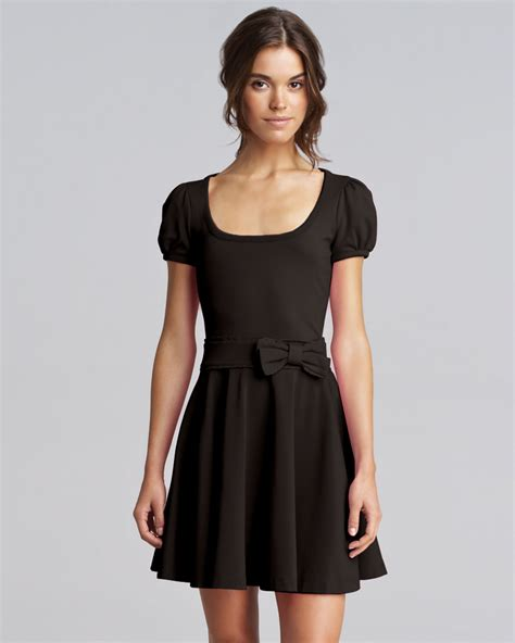 Black Dress by Valentino Bow Waist Jersey Dress Black In Black Lyst