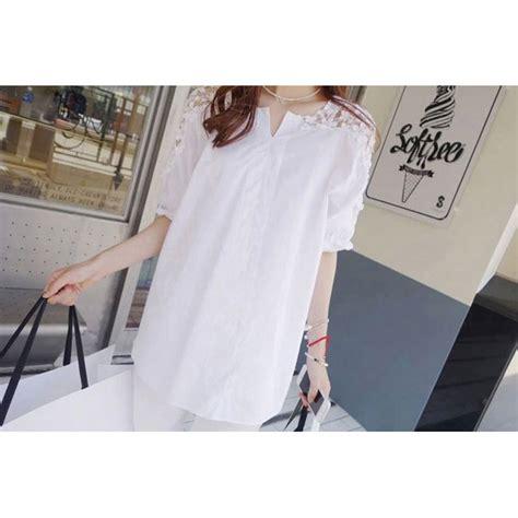 Blouse Wanita Korea 1 blouse wanita korean style size xl white