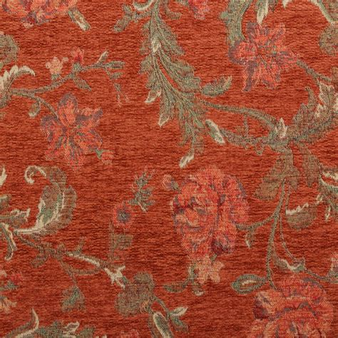 Tapestry Material Upholstery by Floral Distressed Vintage Traditional Tapestry Curtain