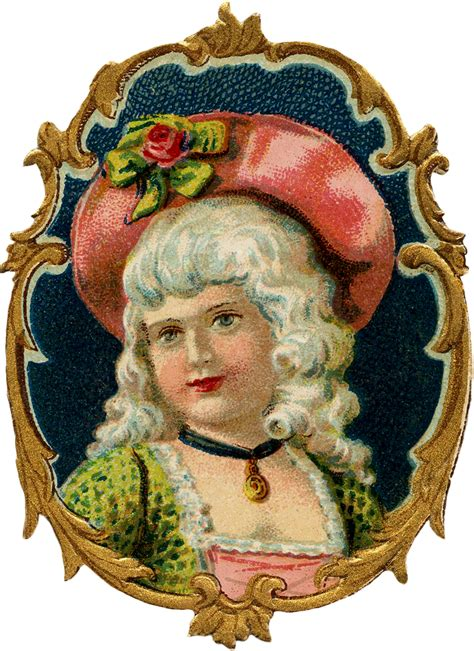 vintage colonial girl image pretty  graphics fairy