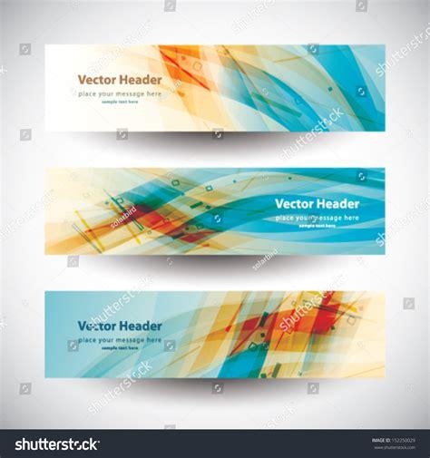 header design banner website header colorful abstract banner set vector design
