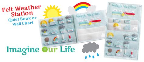 felt weather station pattern free 3 part cards imagine