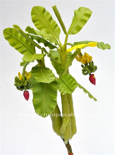 mini banana tree banana tree mini 8 quot artificial flowers thai clay handmade