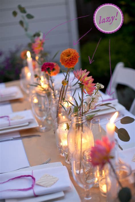 how to make a simple colorful tablescape