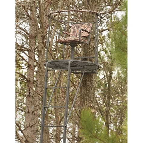 swivel tree stand guide gear deluxe hang on tree stand 177427