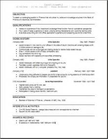 Business Admin Template 9 Business Administration Resume Incident Report Template