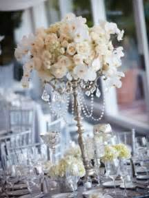 theme centerpieces for wedding white and silver wedding theme weddings romantique