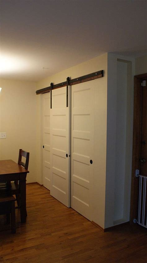 Sliding Pantry Door Hardware by New Pantry Build With Sliding Barn Style Doors