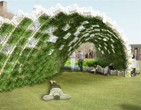living architects living pavilion green walled garden wave coming to