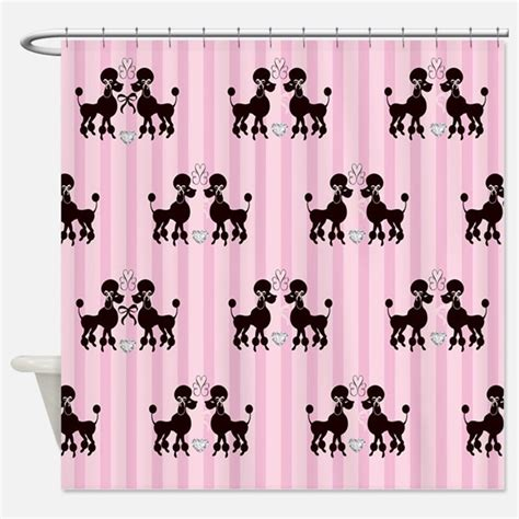 poodle shower curtain pink poodle shower curtains pink poodle fabric shower
