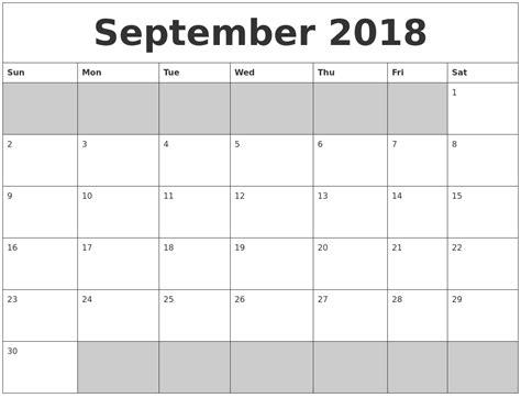 printable calendar september 2018 october 2018 printable calander