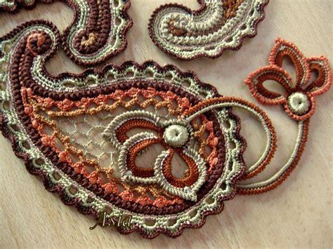 paisley pattern crochet motif paisley crochet motifs pinterest