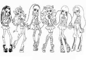 monster hihg todas las chicas dibujos colorear dibujos imprimir
