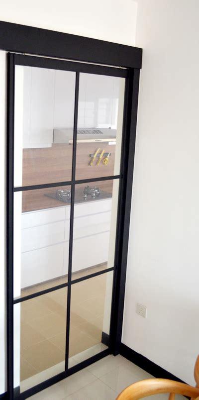 glass door windows on kitchens black powder coated aluminium frame kitchen sliding door