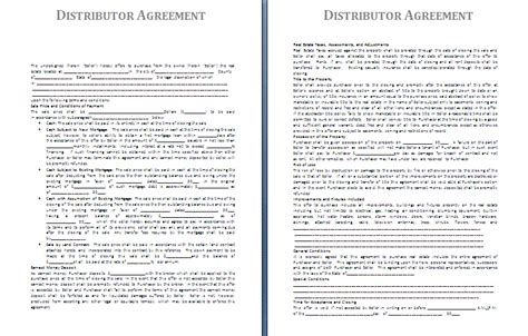 Distributor Agreement Letter Format Distributor Agreement Template Free Agreement Templates