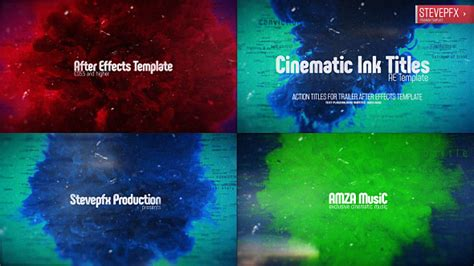 Cinematic Ink Titles Water After Effects Templates F5 Design Com Cinematic Title After Effects Template