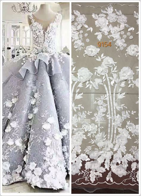 white beaded lace fashion lace fabric white beaded lace fabric with 3d