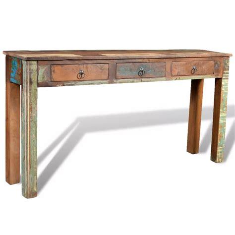 reclaimed wood desk with drawers vidaxl co uk reclaimed wood with 3 drawers